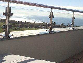 Luxury three-bed house with panoramic sea views near Salcombe, Devon