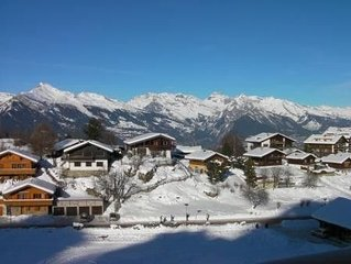 NENDAZ 4-VALLEES  2 Bedroom Luxury  Apartment  with Indoor Swimming Pool(freeWIF