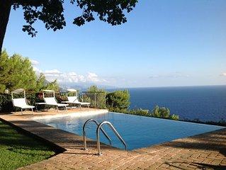 LE QUERCE - Villa con spettacolare vista mare  e piscina