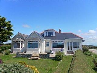 Large cottage on coast path between Polzeath & Port Quin ... superb views!
