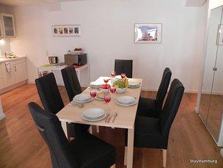 3-Zi.-Apartment 'Kampnagel', modernes Apartment bis zu 8 Personen, inkl. WLAN