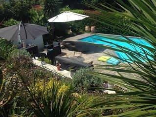 BIARRITZ en été ...!!!!  magnifiques vacances , villa sur golf piscine chauffée