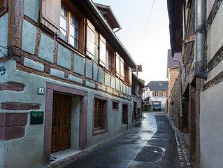 Charmante maison Alsacienne en triplex, centre Ribeauvillé