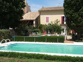 Provence-Maison de charme avec jardin et piscine jusqu'a 10 pers