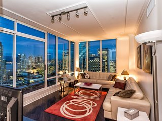 ❤️DOWNTOWN VANCOUVER'S 35TH FLOOR FABULOUS VIEW LUXURY PENTHOUSE 3BR/2BA+PARKING