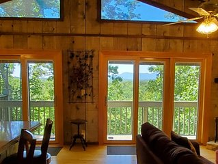 July4th wk NOW OPEN!Huge MTN VIEWS!! Lake, beach, river access! PRIVATE/secluded