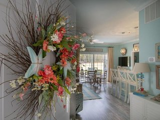 Enjoy SAVE AT HOME Holidays. 'Blue Heaven' luxury ML condo w/screened porch