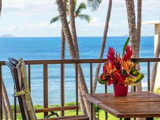 Maui SAVINGS Central A/C Luxurious On The Beach! *Kanai A Nalu 410*