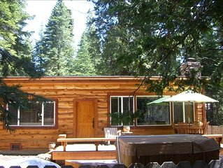 Luxury Log Cabin with New Hot Tub and Great Location!