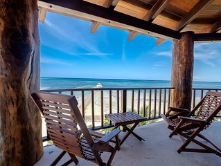 3rd floor beachfront penthouse with occupancy for up to 8 persons!