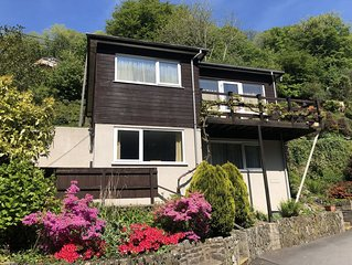 Two bed Appt. 10 minutes walk to Lynton . Riverside location. Free fishing