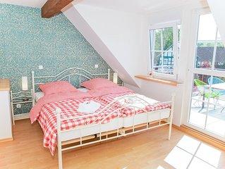 Landhaus im Rinnetal: Maisonette-Ferienwohnung Rapunzel mit südseitigem Balkon