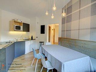 Appartement familiale confortable et lumieux skis aux pieds