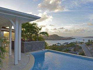Villa Lagon Jaune, très belle vue mer, tarif 3 ou 4 chambres