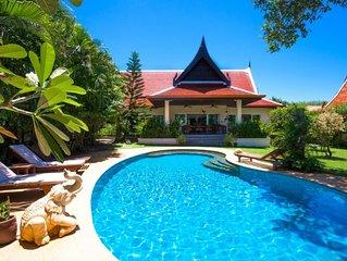Villa de luxe 3 chambres avec jardin tropical piscine privée - espace de 1200m2