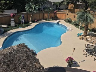 4 bedroom house 3.  Bathrooms, paradise tropical backyard with pool, hot tub, ti