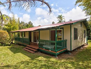 Secluded Quiet Home Near Pahoa. Easy Day Trips to Hilo & Volcano National Park