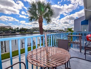 WATERFRONT -Madeira Beach Yacht Club 2 BR 1 Bath Condo, on Florida- Intercoastal