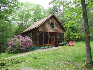 New rental in Boothbay Harbor, try our 'Authentic 'Log Cabin in Maine