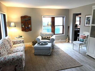Perfect location for your Charlevoix vacation, two blocks from Lake Michigan
