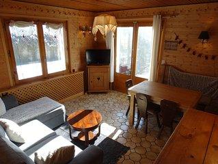 Appartement douillet 3 pièces  ds Chalet Savoyard Rez Terrasse à 50 M des Pistes