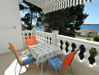 One bedroom apartment with terrace and sea view Zavala (Hvar) (A-8799-b)