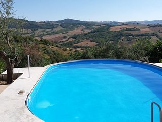 Beautiful house, garden and view with swimmingpool