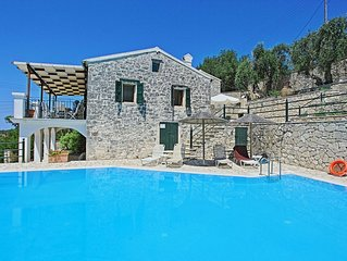 Family Paxos villa with private pool and stunning views