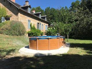 Soleil de Sarrazac, mooi huis voor 8 personen met privé zwembad