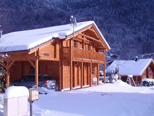 A spacious, tastefully furnished chalet with sauna in a traditional French villa