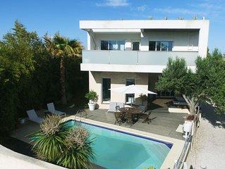 Villa contemporaine de standing aux portes de Montpellier et à 5 mn de la mer