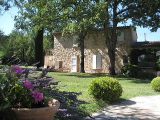 Beautiful Provencal villa with large private pool and huge gardens. Sleeps 8.