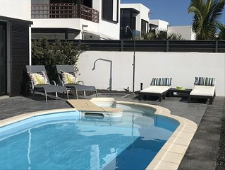 Modern villa with superb sea views & private pool  for peaceful holidays