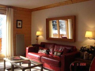 Situé à Méribel Mottaret 1850m Coeur 3 Vallées Appt duplex charme montagnard...