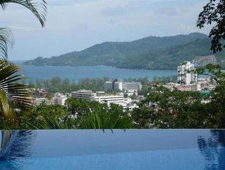 Phuket: luxueuse villa avec piscine vue sur mer
