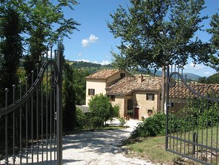 Stunning Valley position. Stylish apartment in Italian Farmhouse, with pool.