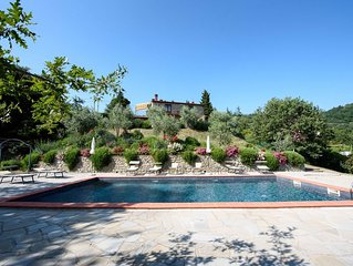 Villa for 10 people with pool with a 'truly wonderful' view to Lake Trasimeno