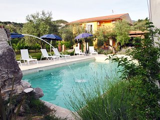 VILLA MERIDIANA with pool, Relax & Nature on Sperlonga hills