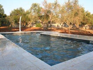 Una bellissima moderna e tradizionale villa con piscina