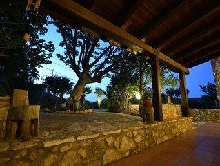 Villa delle lucciole a Scopello con vista mare sullo Zingaro 8 posti letto Wi-fi