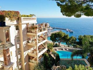 Residence Garden Plaza a Monaco con splendida vista mare piscina e sicurezza