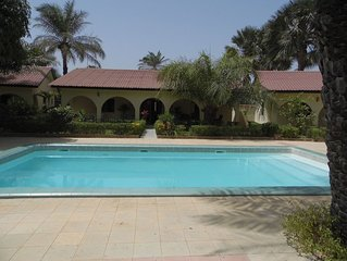 Detached self catering villa with pool sleeps 6