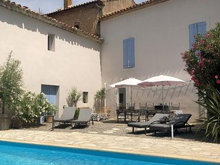Pair of lovely village houses with private pool 6 bed 4 bath Wifi Freesat TV
