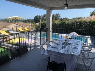 SPA JACUZZI VILLA FURNISHED HOLIDAY BETWEEN SEA AND MOUNTAIN ALERIA 6 PERS