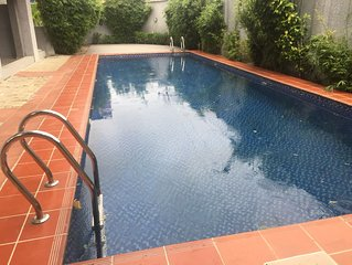 3 bed/3 .5 bath with swimming pool and free unlimited WiFi