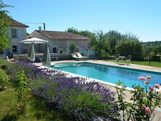 Lovely spacious holiday country house in the Charente with private pool