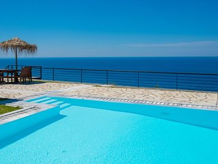Milos Bay Villas- Luxury Beachfront Traditional Stone Villa with Private Pool