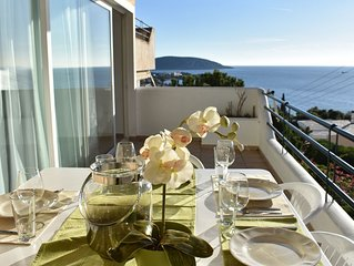 Modern sea view apartment in Athens Riviera, best sunset in Greece