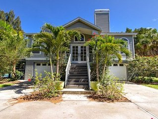 Siesta Key - Furnished Key Villa With Large Pool Set In Tropical Acre Garden
