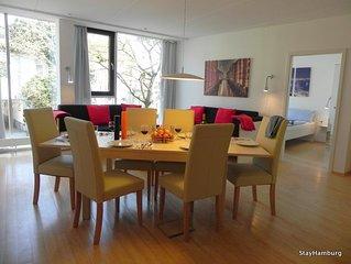 3-Zi.-Apartm. 'Elbspeicher II', modernes Apartment für bis zu 8 Personen, WLAN